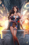 Grimm Mixed Media Framed Prints - Grimm Fairy Tales The Dream Eater Saga 12B Framed Print by Zenescope Entertainment