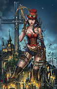 Grimm Mixed Media Framed Prints - Grimm Fairy Tales Unleashed 01B Van Helsing Framed Print by Zenescope Entertainment