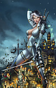 Grimm Mixed Media Framed Prints - Grimm Fairy Tales Unleashed 02A - Masumi Framed Print by Zenescope Entertainment