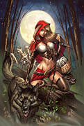 Hood Mixed Media Prints - Grimm Myths and Legends 01A - Red Riding Hood Print by Zenescope Entertainment