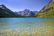 Grinnel Lake Glacier National Park Print by Rich Franco