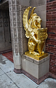 Grinnell Iowa - Louis Sullivan - Jewel Box Bank - Gold Lion Print by Gregory Dyer
