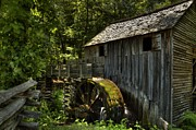 Gatlinburg Tennessee Posters - Grist Mill Poster by Coby Cooper