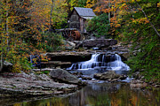 Grist Mill Posters - Grist Mill Falls Poster by Lone  Dakota Photography