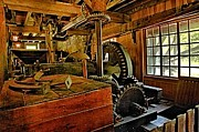 Grist Mill Prints - Grist Mill Gears Print by Adam Jewell