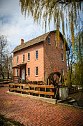 Brick Building Prints - Grist Mill in Deep River County Park Print by Paul Velgos