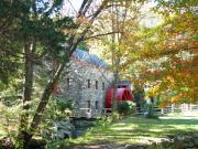 Grist Mill In Fall Print by Barbara McDevitt