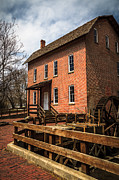 Brick Building Prints - Grist Mill in Hobart Indiana Print by Paul Velgos