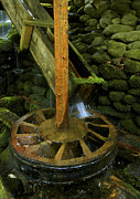 Grist Mill Prints - Grist Mill power wheel Print by Paul W Faust -  Impressions of Light