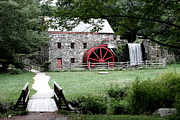 Sudbury Ma Digital Art Framed Prints - Gristmill Art Framed Print by Jayne Carney