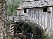 Old House Photographs Posters - Gristmill at Cades Cove Poster by Vicki Parker