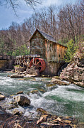 Mary Almond Prints - Gristmill in Spring Print by Mary Almond
