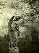"\""stone Art\\\"" Digital Art - Gritty Fog by Gothicolors With Crows"