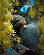 Bears Digital Art - Grizzly by Arne Hansen