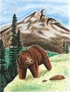 Grizzly Pastels - Grizzly Bear by Jeanette Kabat