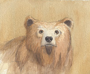 Yellowstone Paintings - Grizzly by John Holdway