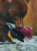 Sporting Art Originals - Grizzly by Paul Francev