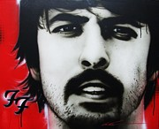 Fighters Paintings - Grohl by Christian Chapman Art