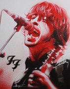 Contemporary Art Painting Framed Prints - Grohl II Framed Print by Christian Chapman