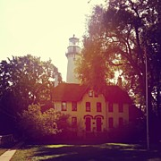Lighthouse Photos - Grosse Point Lighthouse 1873 by Jill Tuinier