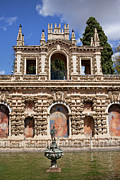 Mudejar Framed Prints - Grotesque Gallery in Real Alcazar of Seville Framed Print by Artur Bogacki
