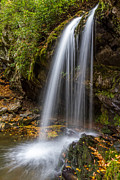 Roaring Fork Road Photo Prints - Grotto Falls Great Smoky Mountains Print by Pierre Leclerc