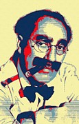 Cigar Mixed Media Prints - Groucho Marx Print by Art Cinema Gallery