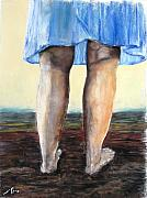 Legs Pastels Prints - Ground Print by Sigalit Aharoni