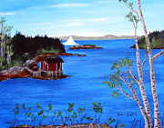 Fishing Shack Paintings - Grounded Iceberg by Barbara Griffin