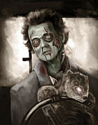 Zombie Digital Art - Groundhog Day by Chok Bun  Lam