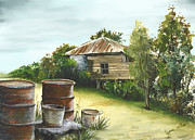 Groundwater Residence Of Days Gone By Print by Lynne Wilson