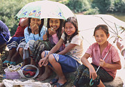 Laughing Posters - group of Laos girls  Poster by Setsiri Silapasuwanchai