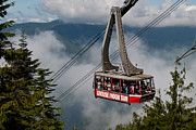 North Vancouver Framed Prints - Grouse Mountain Skyride Framed Print by James Wheeler