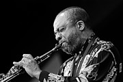Artists And Artisans Prints - Grover Washington Closeup Print by Craig Lovell