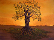 Tree Roots Paintings - Growing Together by Michael Wheeler