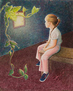 Sun Rays Painting Prints - Growing Up Thoughts Print by Jolene Stinson Williams