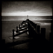 Minimal Landscape Framed Prints - Groyne I Framed Print by David Bowman