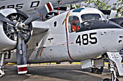 Vietnam Air War Art Metal Prints - Grumman S2F-1 Tracker Metal Print by Charles Dobbs