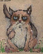 Grumpy Posters - Grumpy cat says hello to you Poster by Angel  Tarantella