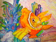Clown Fish Mixed Media - Grumpy by Debi Pople