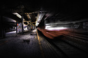 Train Prints - Grunge Art Part III - Runaway Train Print by Erik Brede