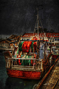 Trawler Photo Metal Prints - Grunge Art Part IX - Resting Metal Print by Erik Brede