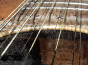 Country Music Photos - Grunge Guitar by Everett Bowers