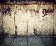 Berlin Germany Prints - Grunge rusty concrete wall background Print by Michal Bednarek