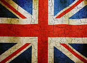 Grime Digital Art Posters - Grunge Union flag Poster by Steve Ball