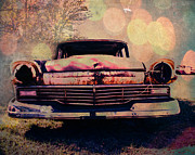 Retro Car Photos - Grungy Ford in the Sun by Sonja Quintero