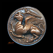 Ancient Greece Sculpture Posters - Gryphon or Griffin Poster by Patricia Howitt
