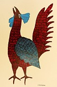 Gond Art Paintings - Gst 10 by Gareeba Singh Tekam