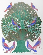 Gond Paintings - Gst 20 by Gareeba Singh Tekam