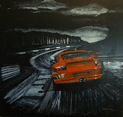 Gt3 Prints - GT3 @ Le Mans #2 Print by Richard Le Page
